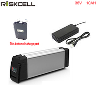 Bottom Discharge Electric Bicycle Li Ion Batteries 36v 10ah Lithium Battery For 36v 500w E Bike