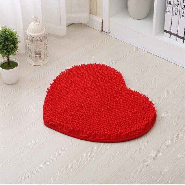 1 pz home decor soffici 48*58 cm amore a forma di cuore antiscivolo tappetini da bagno bagno tappeto set 7 colori tappetino tappetino doccia wc tappeti da bagno