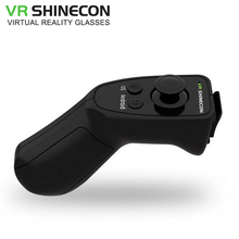 VR Shinecon VR Android Joystick Gamepad Bluetooth Three.Zero Sport Pad Distant Controller Common Wi-fi Music Selfie for Smartphone