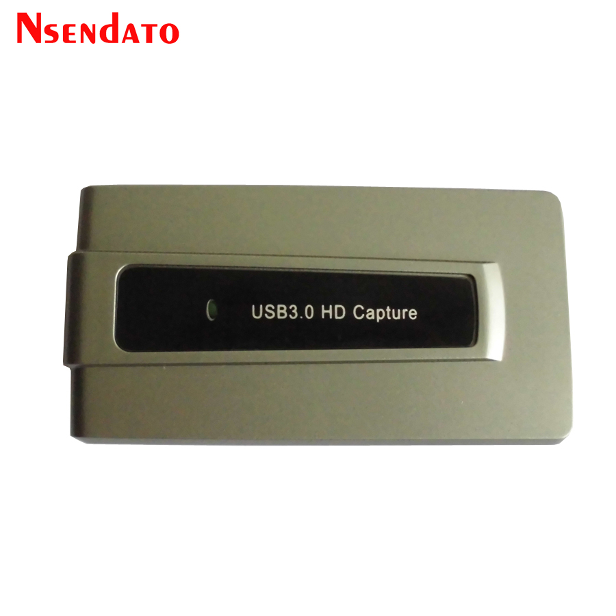 Nsendato 3.0 HD Game Video Capture Live Streaming Record 1080p 60fps OBS Studio Windows to Youtube Hitbox for XBOX/PS4