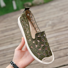 ballet flats shoes women casual ladies flax flat bottom spring summer designer sandals luxury 2019 Breathable
