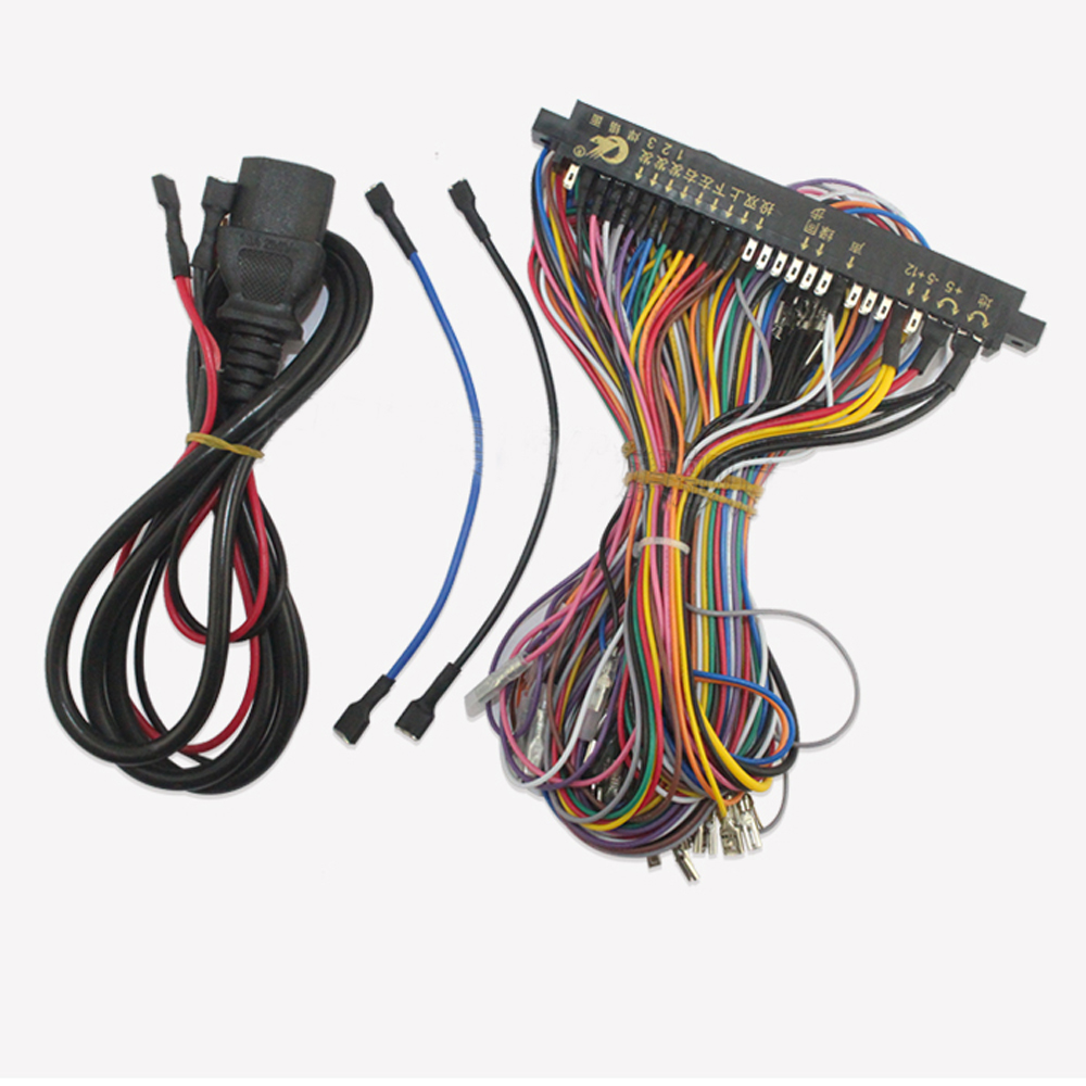 top quality 28 pin full extender harness for arcade game board cabinet wire wiring harness loom arcade pcb in coin operated games from sports  [ 1000 x 1000 Pixel ]