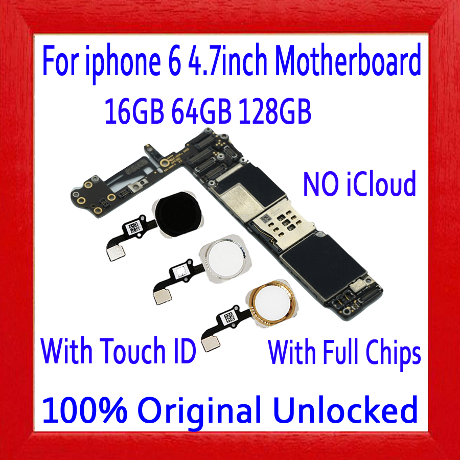 No iCloud for iphone 6 Motherboard with / without Touch ID,Original unlocked for iphone 6 Mainboard Full Chips,16GB 64GB 128GBNo iCloud for iphone 6 Motherboard with / without Touch ID,Original unlocked for iphone 6 Mainboard Full Chips,16GB 64GB 128GB