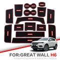 ZUNDUO nakładka na szczelinę w bramie do Haval H6 2011-2019 akcesoria, gumowa mata samochodowa 3D czerwony/biały podkładka wewnętrznego drzwiowego/mata na kubki