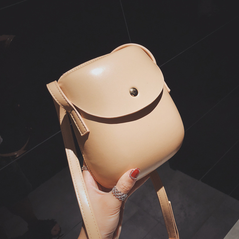 Super Seabob 2020 Autumn New Design Fashion Interior Single Shoulder Mini Solid Shell Bag Casual Soft Hasp Purse Women DA014