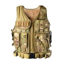 2017 Nouveau Extérieure Police Tactique Gilet Camouflage Militaire Corps Armure Vêtements de Sport Chasse Gilet Armée Swat Molle Débardeurs ZM14
