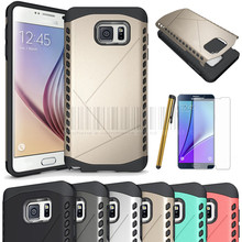Dual Layer Armor Case Impact Protective Rugged Shield  Phone Case Cover With FILMS+STYLUS For Samsung Galaxy Note 5 N9200