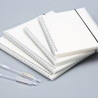 80 Folhas de Prata Duplo Anel Bobina Governado Caderno Espiral PP Tampa Transparente Em Branco Dot Grade De Papel Gráfico Tamanho: 21 cm x 14.3 cm