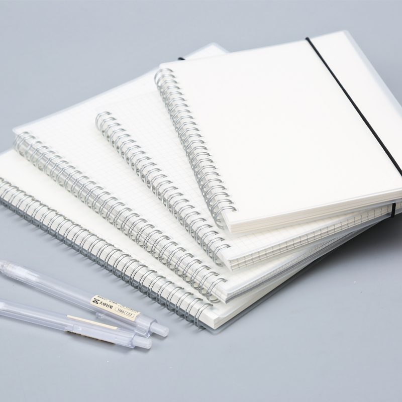 80 Sheets Silver Double Coil Ring Spiral Notebook ...