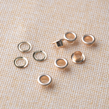Metal Eyelets Grommets With Washers, 12mm Barrel Diameter, Gold Plated Metal Eyelets