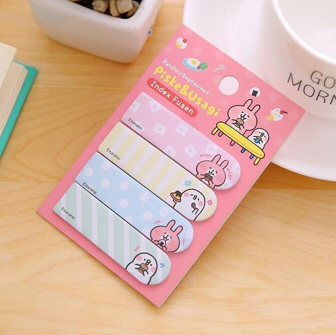 20pack/Lot Kawaii Kanahei Finger Sticky Notepad Memo Message Post Stick Marker Message Sticker Stationery School Supplies
