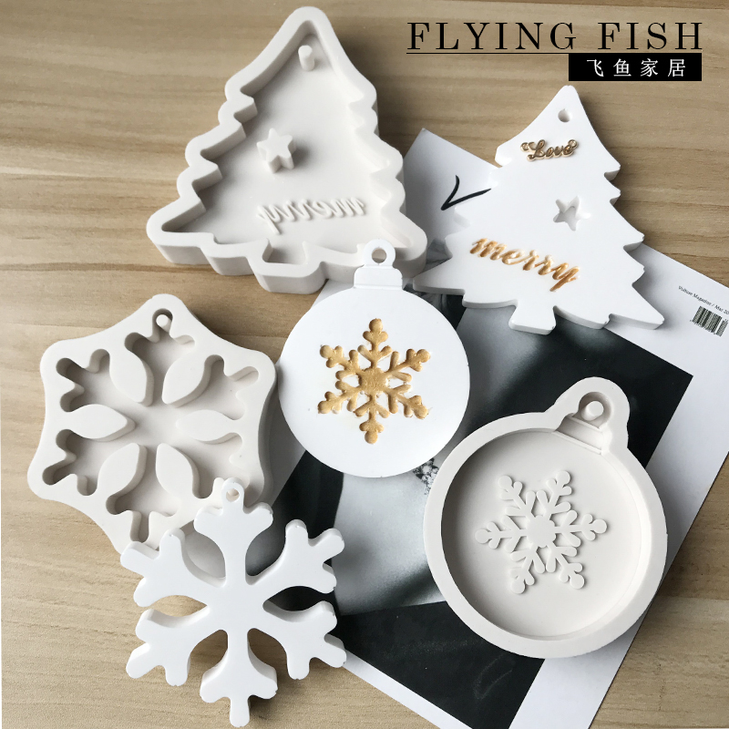 Flying Santa Christmas Soap Chocolate Silicone Mould
