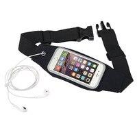 Runner Waist Pack Waterproof Cellphone Holder Reflective Adjustable Belt 29 5 57 Pouch Transparent Touch Screen
