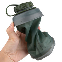 750ml Outdoor Collapsible Water Bottle Usable Foldable Folding Lightwe