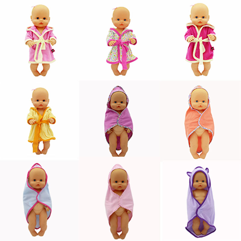 New Bathrobe Doll Clothes Fit 33-35cm Nenuco Doll Nenuco Su Hermanita Doll Accessories