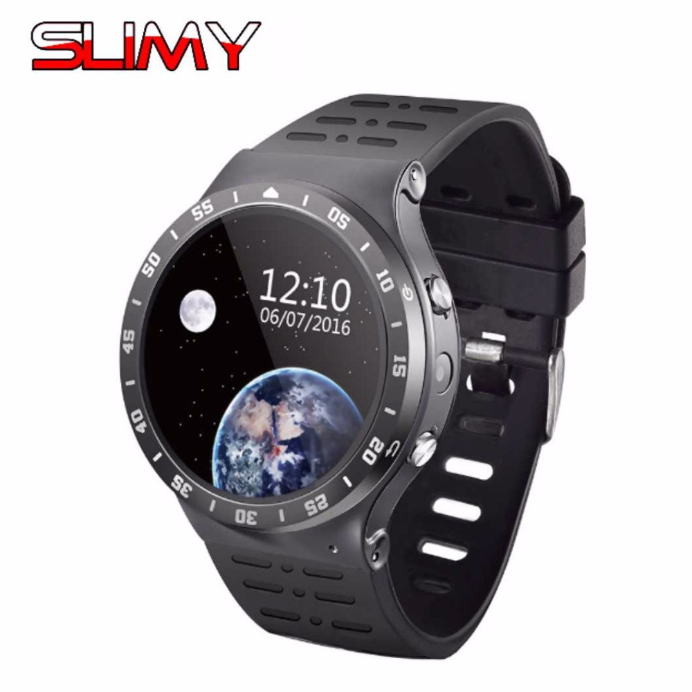 Slimy Smart Watch S99A 1.33 Inch MTK6580 Quad Core 1.3GHZ Android 5.1 3G Smartwatch 5.0 Mega Pixel Heart Rate Monitor in Stock d6 smart watch phone 1 63 inch mtk6580 quad core 3g android 5 1 wear wifi gps smartwatch heart rate monitor for android ios
