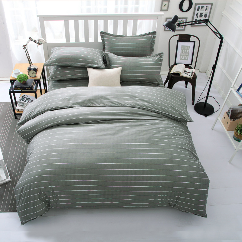 comforter set Jacquard and stripe style of king queen size 4pc cotton bedding sets bedclothes quilt