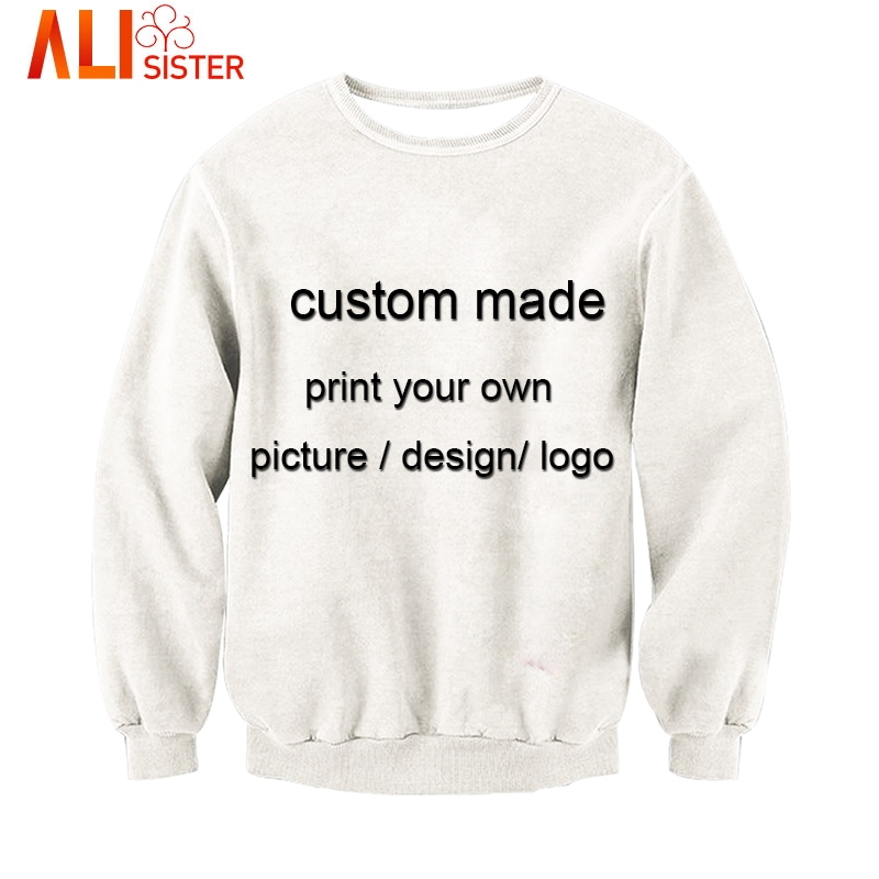 1e3543f8d Alisister Custom Made Sweatshirt 3d Print Men's Pullovers Plus Size Moletom Hoodies  Unisxe Brand Clothing Dropship-in Hoodies & Sweatshirts from Men's ...