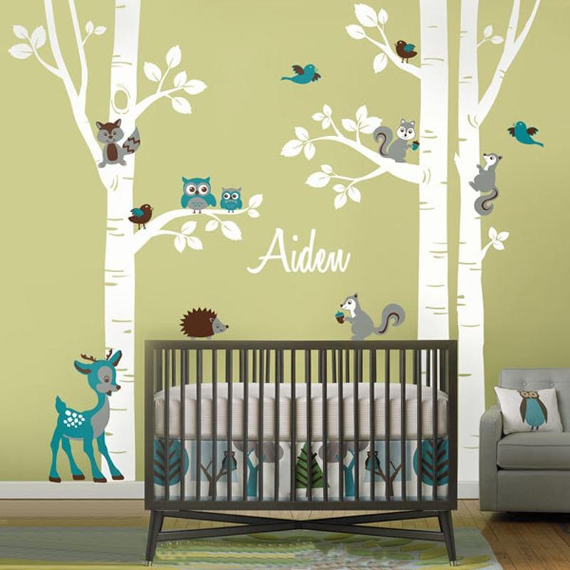 Free Shipping Huge Birch Tree Birds Vinyl Wall Sticker Nursery Wall ...