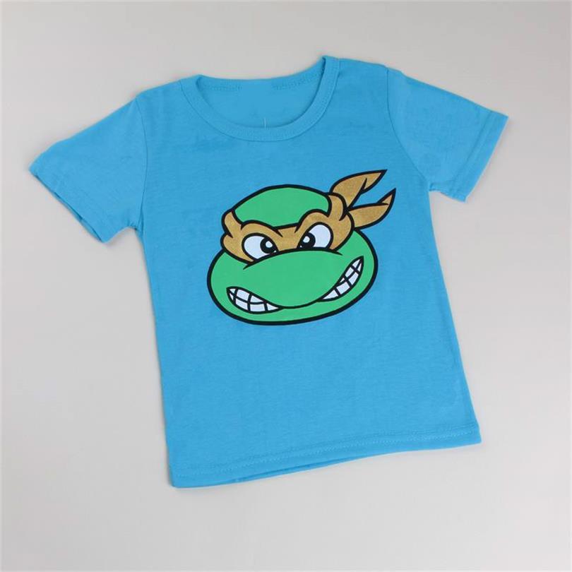 T-Shirt Cartoon Girls Boys Cotton Children Unisex
