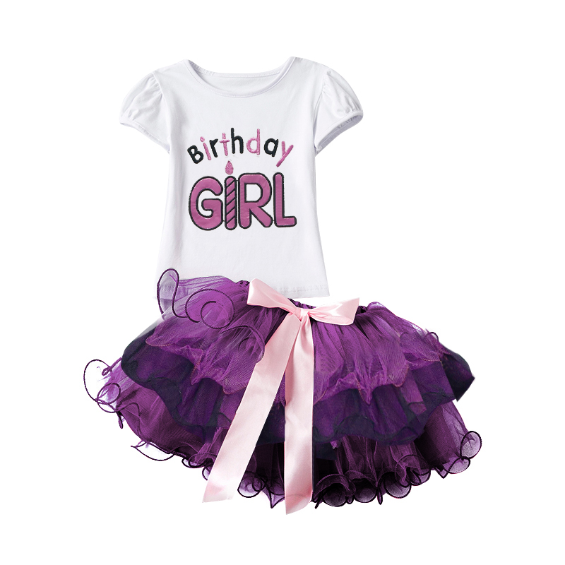 Toddler Girl Clothes Party Baby Sets Romper Skirt Children Clothing Sets Bebes One Birthday Outfit Suits Infant Baptism Clothes cartoon rabbit bear baby romper children clothes spring toddler jumpsuit newborn infant clothing wear roupas de bebes