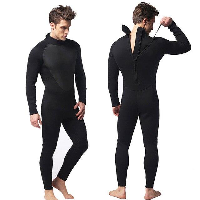 6141325cfba 3 MM más grueso de pesca submarina traje de hombre de Surf traje de  invierno cálido ...