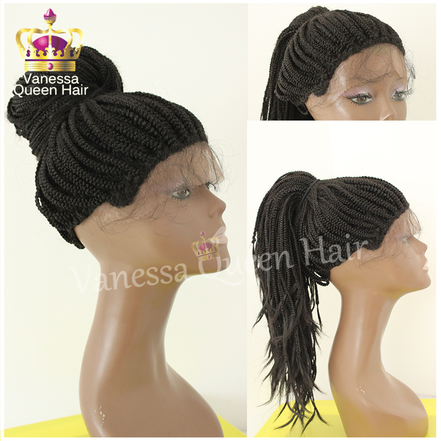 Braid lace front wig with baby hair heat resistant synthetic lace front wig  high quality full braiding lace wig stock wholesale on Aliexpress.com  7e6046d2eb16