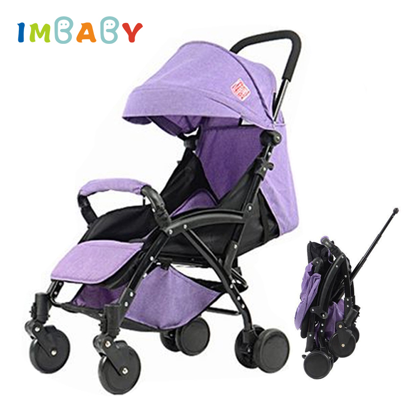 IMBABY Trolley Design Baby Stroller Ultra-light Baby Carriages Can Board The Plane Prams For Newborns Baby Pram For Travel