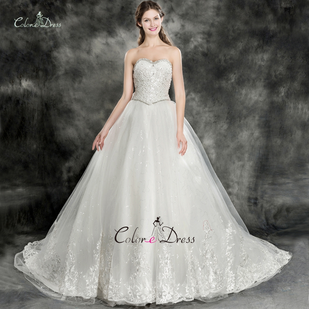 Crystal Bodice Wedding Gown: Luxury Full Crystals And Beads Bodice Ball Gown Wedding