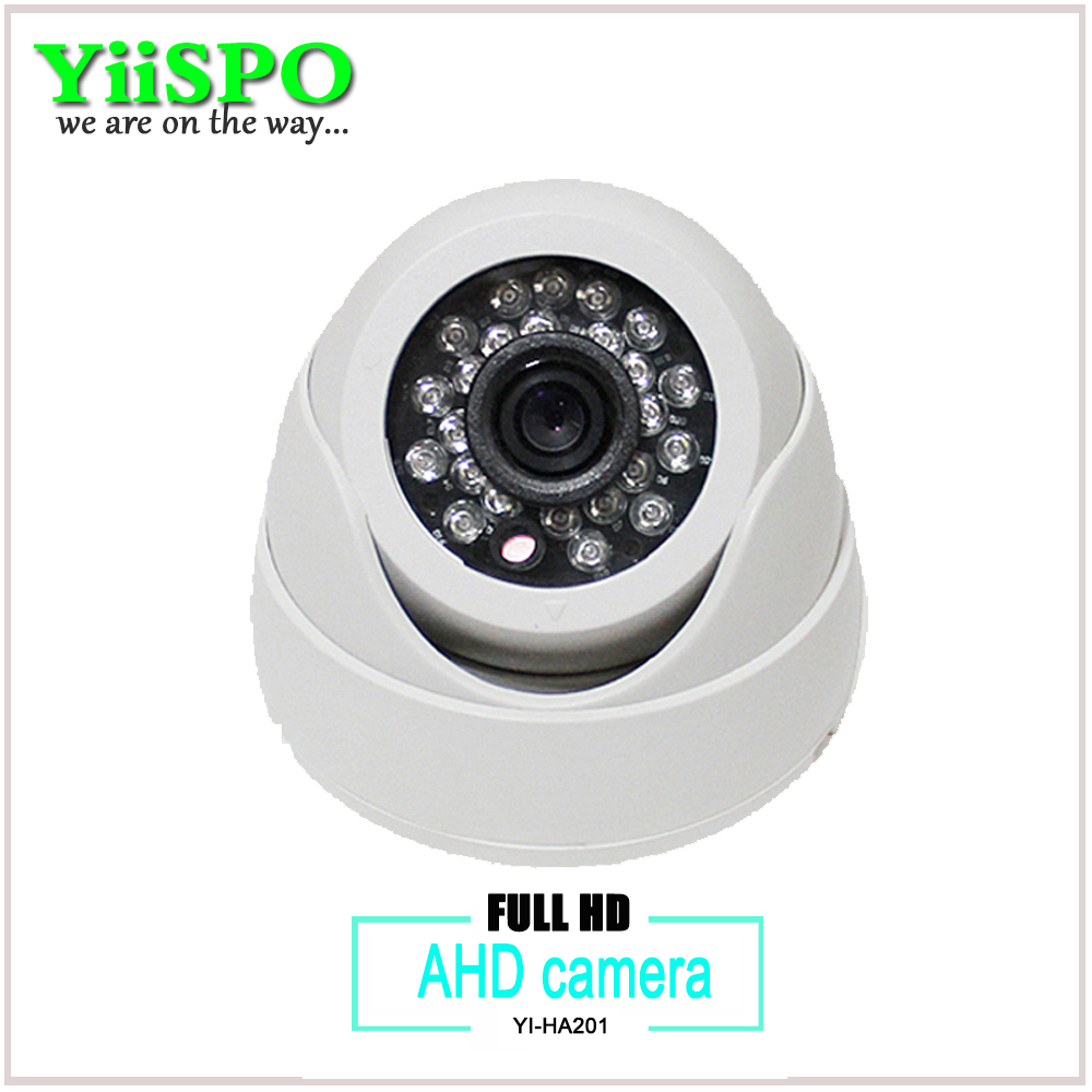 YiiSPO Plastic Mini IR Dome Camera 24pcs LED Board Video Security Camera Indoor CCTV AHD 720P 1.0MP AHD camera 3.6MM len 24 ir leds infrared ir board for security camera cctv dome camera 90 degrees camera led board