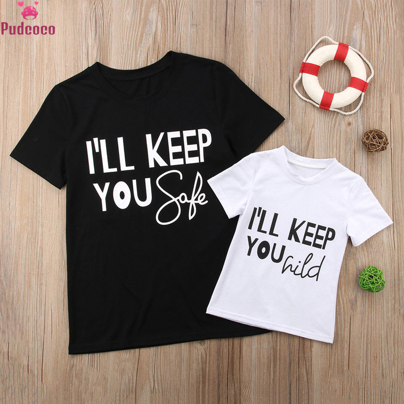 Pudcoco 2018 Style Household Matching Outfits Mother Children Child T Shirt Tops Tee Garments Mom Son T-Shirts Household Look
