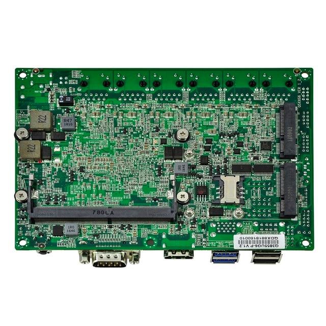 QOTOM pfSense Appliance Q500G6 с процессором Skylake Core i7-6500U Kabylake Core i7-7500U 6 гигабитная Сетевая интерфейсная карта безвентиляторный мини-ПК PFSense 4