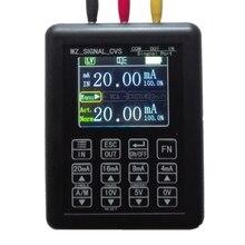 Calibrador do transmissor das fontes do gerador do sinal do simulador 0 10v 4 20ma da tensão atual ajustável da elevada precisão