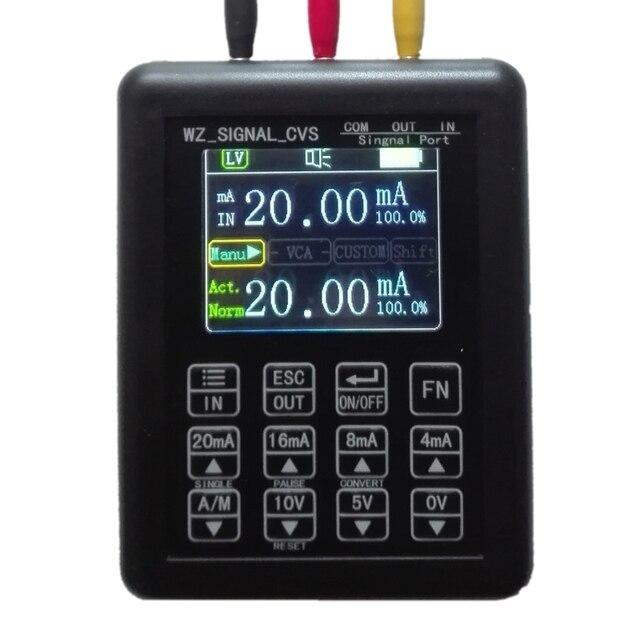 High precision Adjustable Current Voltage Analog Simulator 0 10V 4 20mA Signal Generator Sources transmitter calibrator