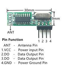 433 mhz rf modul atualizado fvr WL101 341 superheterodyne 433 mhz módulo receptor sem fio fvr arduino uno fernbedienung