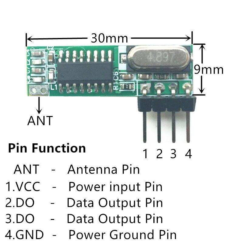 433 МГц rf modul Модернизированный Fvr WL101 341 Супергетеродинный 433 МГц беспроводной модуль приемника Fvr Arduino uno fernbedienung-in Пульты ДУ from Бытовая электроника