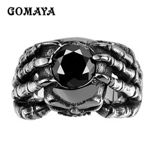 GOMAYA Mens Rings Vintage Classic Retro Evil Ring for Party Halloween Gift Rings for Man Wholesale Jewelry 316L Stainless Steel