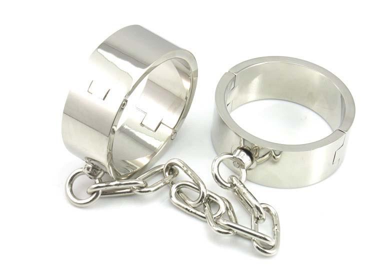 все цены на Stainless steel heavy bondage restraints Shackle bdsm bondage fetish wear anklet cuffs sex slave with chain sex toys for couples