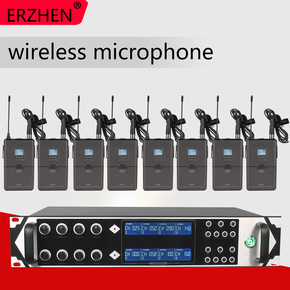Wireless Microphone 9000GTA8 UHF 8 Channel Dynamic Karaoke Party KTV