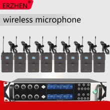 Wireless Microphone 9000GTA8 UHF 8 Channel Wireless Dynamic Microphone Karaoke Party KTV UHF Microphone freeboss fb u08 2 way 200 channels pll ir uhf wireless microphone with 2 handhelds for karoke ktv party uhf dynamic microphone