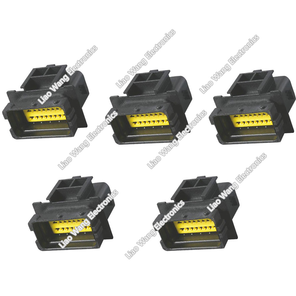 5 Sets 24 Pin Male Connector Modified Wire Harness Plug Simply In Speaker To Your Current Unit Then Connect Round Spring Terminal Cup Tcrs 350 Speakers Headphones Dj And Car Audio