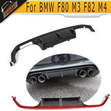 4 серии диффузор для BMW F80 M3 F82 F83 M4 14-19 Стандартный и конвертируемый черный пластик, армированный волокном, углеродное волокно заднего бампера спойлер