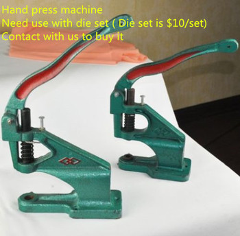 FREE SHIPPING BY EXPRESS hand press eyelet rivet  machine snap button clinching machine press machine corn machine