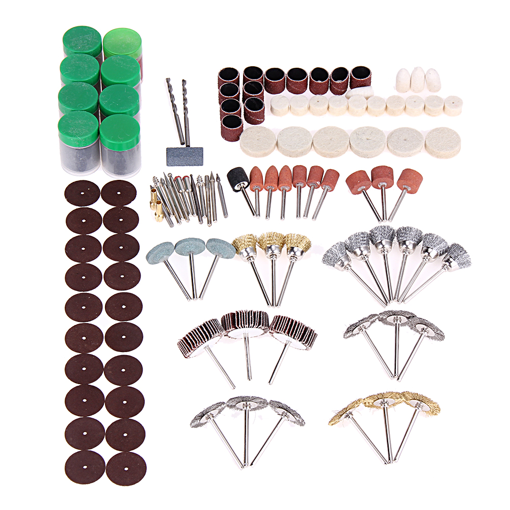 350pcs Consumables Dremel Accessories Rotary Tool Electric Rotary Accessories for Grinding Polishing Cutting with 3.2mm Mandrel