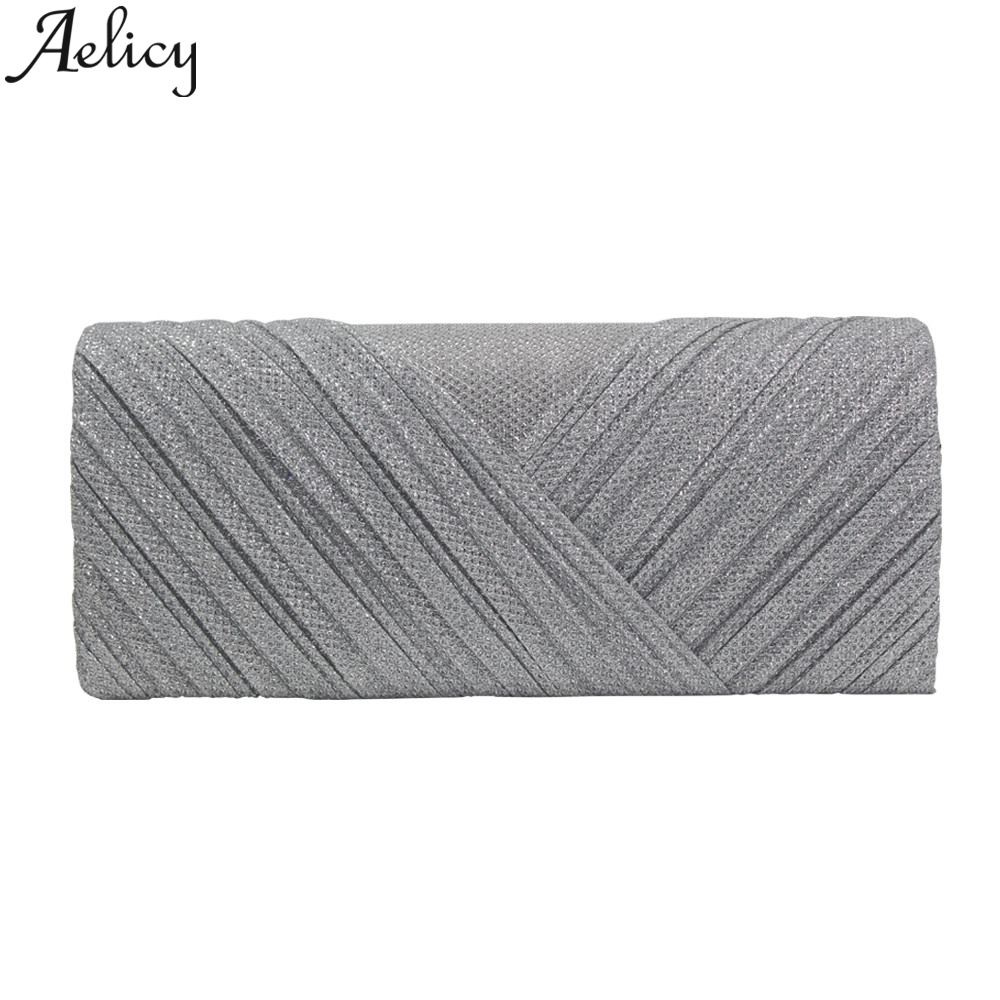 Aelicy 2019 Fashion Women Solid Ruched Embroidery Cocktail Party Bag Ladies Tote Phone Bag Evening Clutch bags Luxury Handbags 1