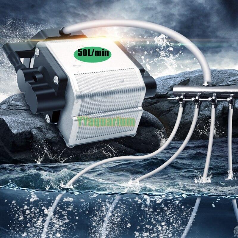 Супер большой объем мощных аквариума насос сильной рыбой пруда кислорода компрессора Ultra Silence Новый Maglev Tech 16 Вт 3000L /ч 30-40db