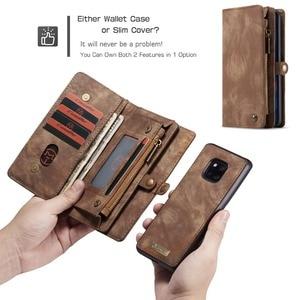 Image 3 - Pour Coque Huawei P30 Lite étui de luxe à fermeture éclair portefeuille Folio couverture magnétique étui en cuir véritable pour Huawei P20 Lite P30 Pro P20