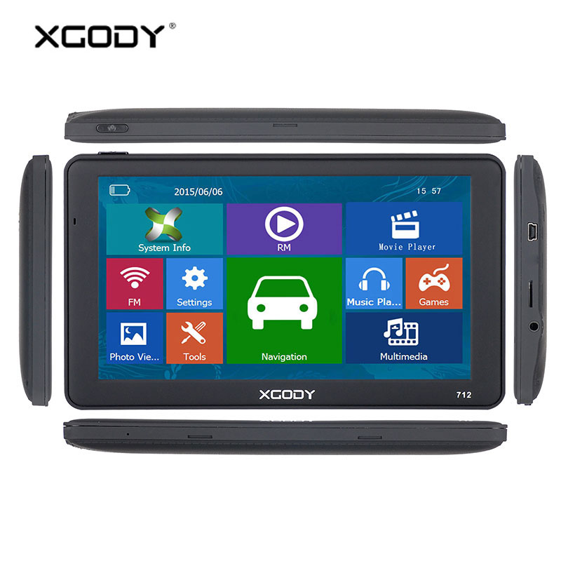 XGODY 7 inch Gps Navigator Russia Navitel 256M 8GB Capacitive Screen Car Truck Navigation Europe Ship From Spain Italy Free Map 7 inch gps lcd screen e navigation luhang x10 x9 display screen portable navigator in screen
