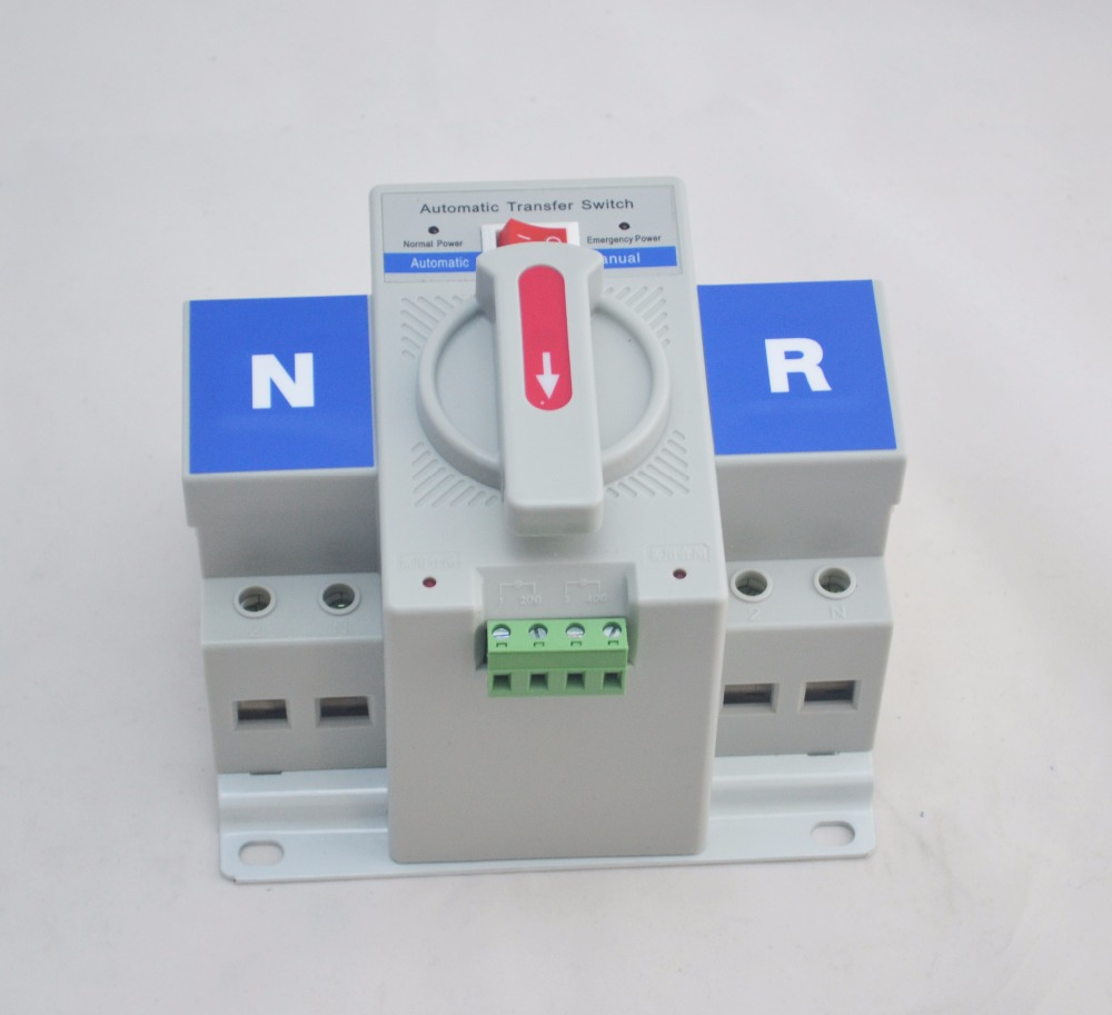 2P 63A 230V MCB type white color Dual Power Automatic transfer Rated frequency 50/60Hz switch ATS Rated voltage 220V /380V 2p 63a 230v mcb type dual power automatic transfer switch ats rated voltage 220v