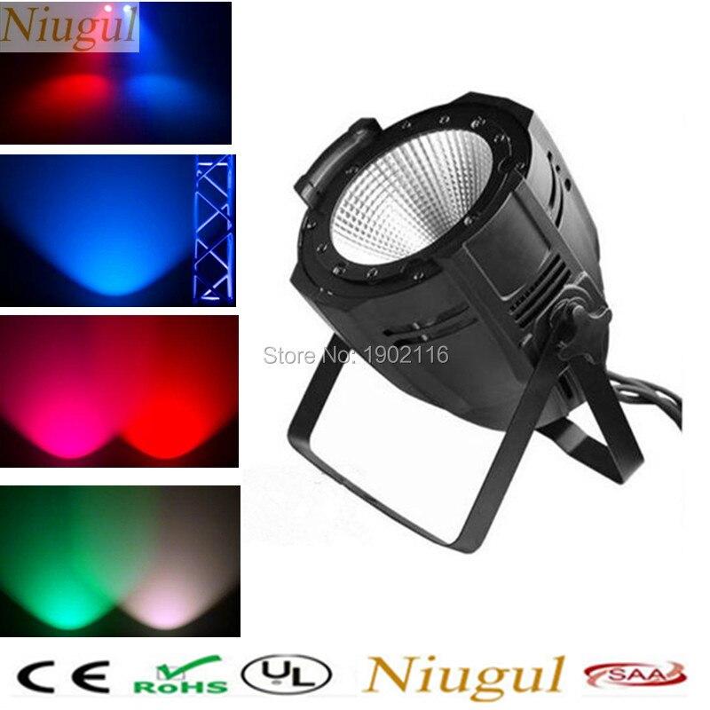 Niugul Free&Fast shipping 100W COB rgbw PAR64 /DMX512 LED Stage effect Light /DJ Par /RGBW PARTY Disco lights/Family DJ Lighting
